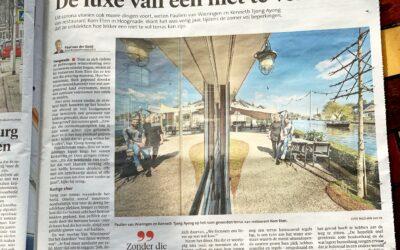 """Leidsch Dagblad: """"De luxe van een niet te vol terras"""""""